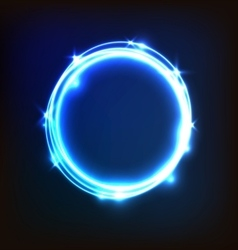 Abstract glowing blue background with circles vector image vector image