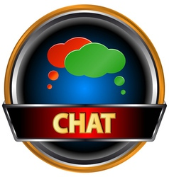 Chat symbol vector image