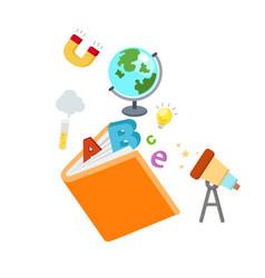 education book concept kid book vector image