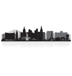 Las Vegas USA city skyline silhouette vector image vector image