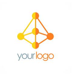 prism technology logo vector image vector image