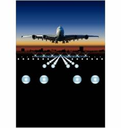 airbus at sunrise vector image vector image
