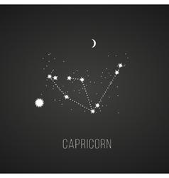 Astrology sign capricorn on chalkboard background vector