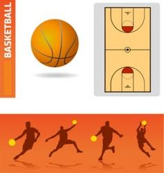 basketball design elements vector image
