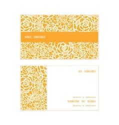 golden lace roses horizontal stripe frame pattern vector image vector image