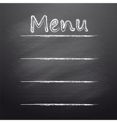 Menu written on a blackboard vector image