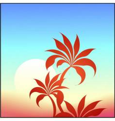 palm background vector image vector image