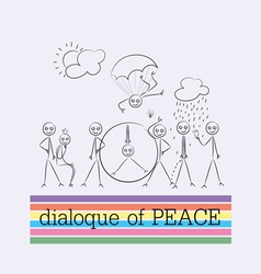 Peace dialogue cartoon vector image vector image