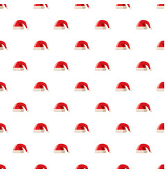 red hat with pompom pattern vector image vector image