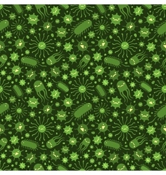 Seamless pattern with the viruses vector image