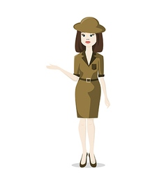 woman tour guide vector image