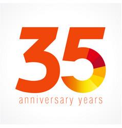 35 anniversary logo vector