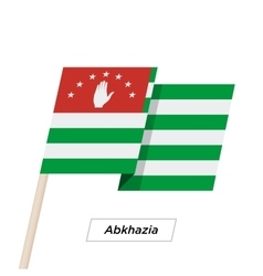 Abkhazia Ribbon Waving Flag Isolated on White vector image