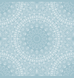 abstract round ethnic seamless pattern on white vector image