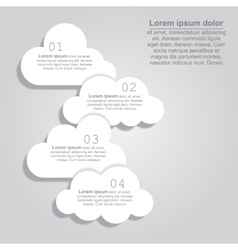 Abstract speech bubbles in the shape of clouds vector image