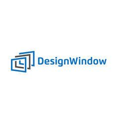 abstract window design logo template vector image