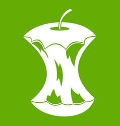 apple core icon green vector image