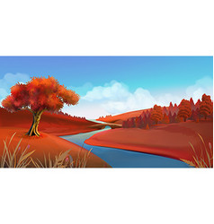 Autumn background Nature landscape graphics vector