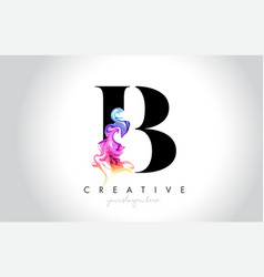 B vibrant creative leter logo design vector