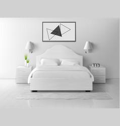 bedroom interior home or hotel empty apartment vector image