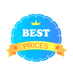 Best prices advertising banner vector
