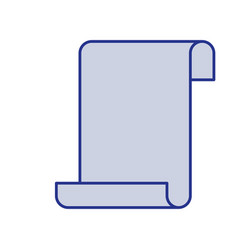 Blue silhouette of continuously sheet in blank vector
