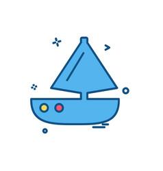 boat icon design vector image
