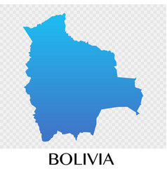 Bolivia map in south america continent design vector