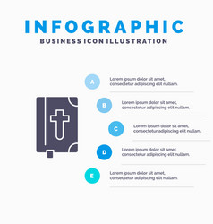 Book bible easter holiday solid icon infographics vector