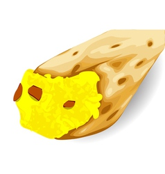 breakfast taco vector image