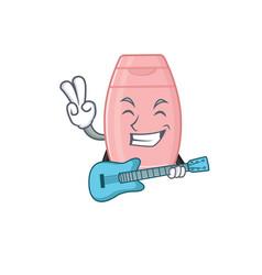 Brilliant musician baby cream cartoon design vector