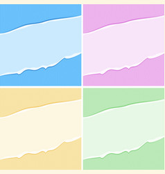 Cardboard texture background in four colors vector
