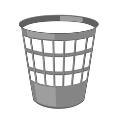 cartoon paper trash can vector image