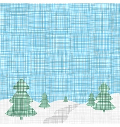Christmas card template Background Linen folk vector