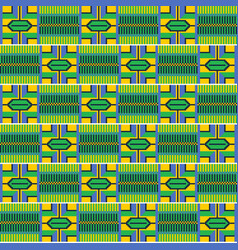Colorful african print cloth kente seamless vector