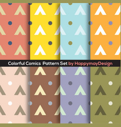 Colorful graphic set 0f 8 ready to use pattern vector