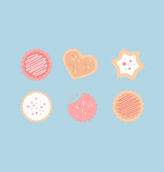 Crunchy cookies set vector