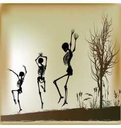 dancing skeletons vector image