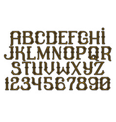 Decorative vintage font time machine vector