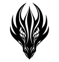 Dragon face symbol vector image