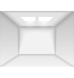 Empty white room vector