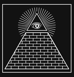 Eye providence pyramid vector
