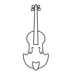 Fiddle classical music instrument thin line vector