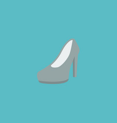 flat icon heeled shoes element vector image