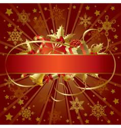 Gold Christmas banner vector