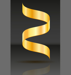 gold ribbon realistic vector image
