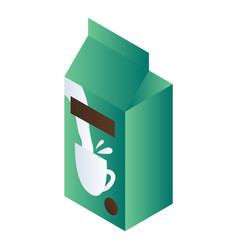 green milk package icon isometric style vector image