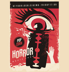 horror movie poster design vector image
