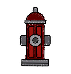 hydrant street pipe vector image