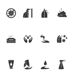 Hygiene icon included icons as hand wash vector
